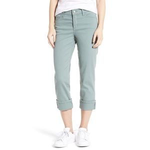 NYDJ Dayla Colored Wide Cuff Capri Jeans Size 10